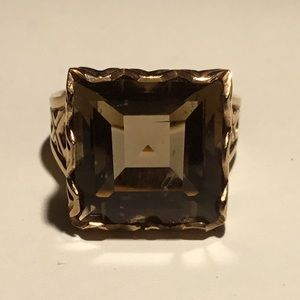 Jewelry - 9k rose gold Smokey Quartz Ring